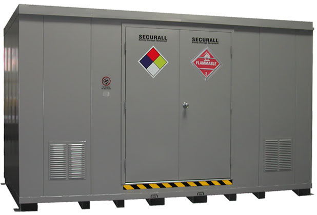 SECURALL Buildings Lockers Hazmat Drum Storage Buildings IBC