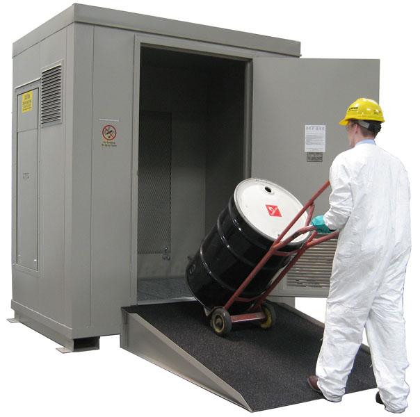 SECURALL® Buildings U0026 Lockers  Hazmat U0026 Drum Storage Buildings, IBC U0026 Hazardous  Material Storage Buildings, Flammable Liquids Storage In Drum, Hazardous ...