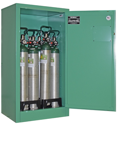 MG109 - Oxygen Cylinder Storage Cabinet, Gas Cylinder