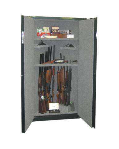 SECURALL® CORNER GUN CABINET 11 GUN 2 SHELVES - Gun Cabinet ...