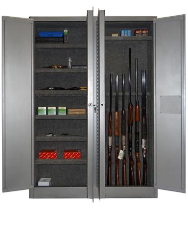 SECURALL® SLIMLINE 7 GUN CABINET 8 SHELVES - GUN - Gun Cabinet ...