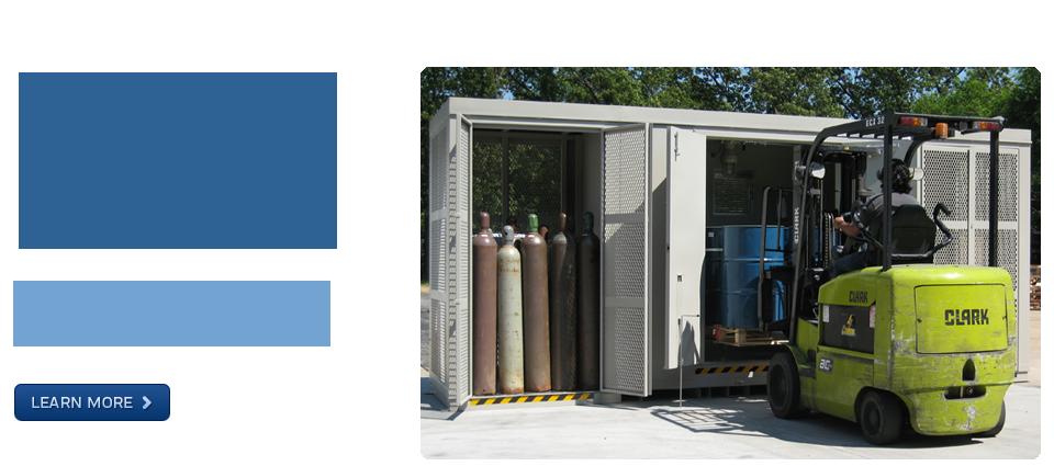 Safety Storage Cabinets · Hazmat Storage Buildings · Explosive Storage  Magazines · High Security Cabinets · Custom Storage