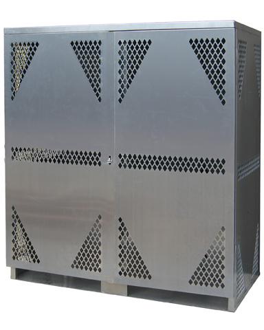 LP16S VERTICAL   Cylinder U0026 Tank Storage Cabinet, LP Cylinder Rack, LP  Aluminum Storage Cage, Gas Cylinder Storage Cabinet, LP U0026 Oxygen Storage