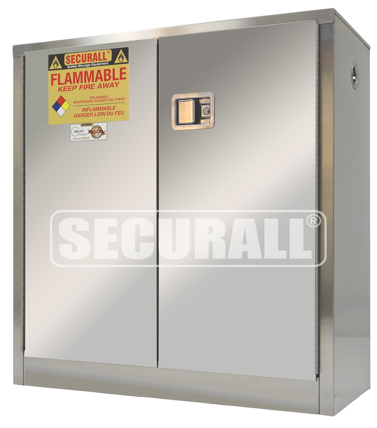 STAINLESS STEEL FLAMMABLE STORAGE