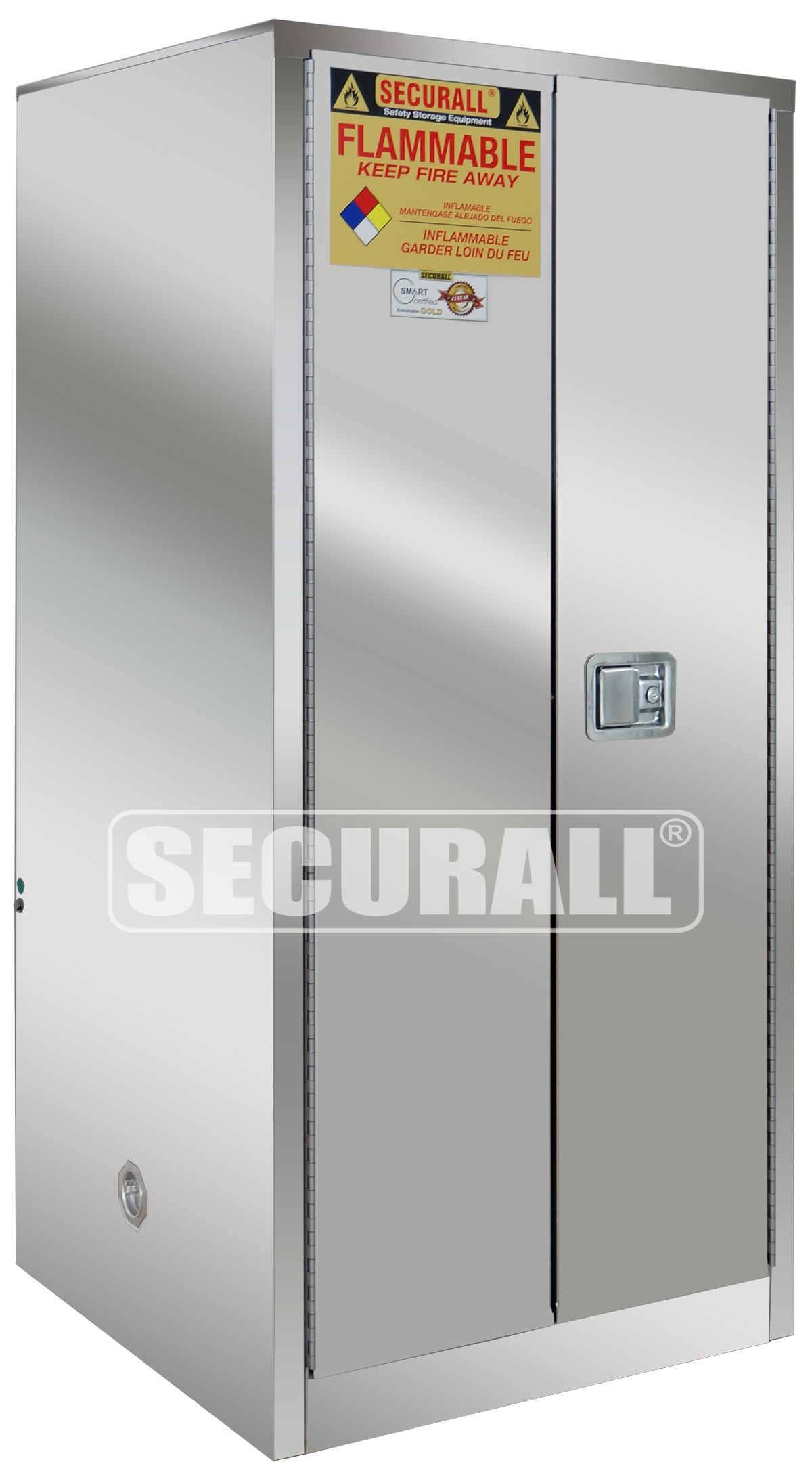 Securall 174 Stainless Steel Storage Cabinets For Flammables