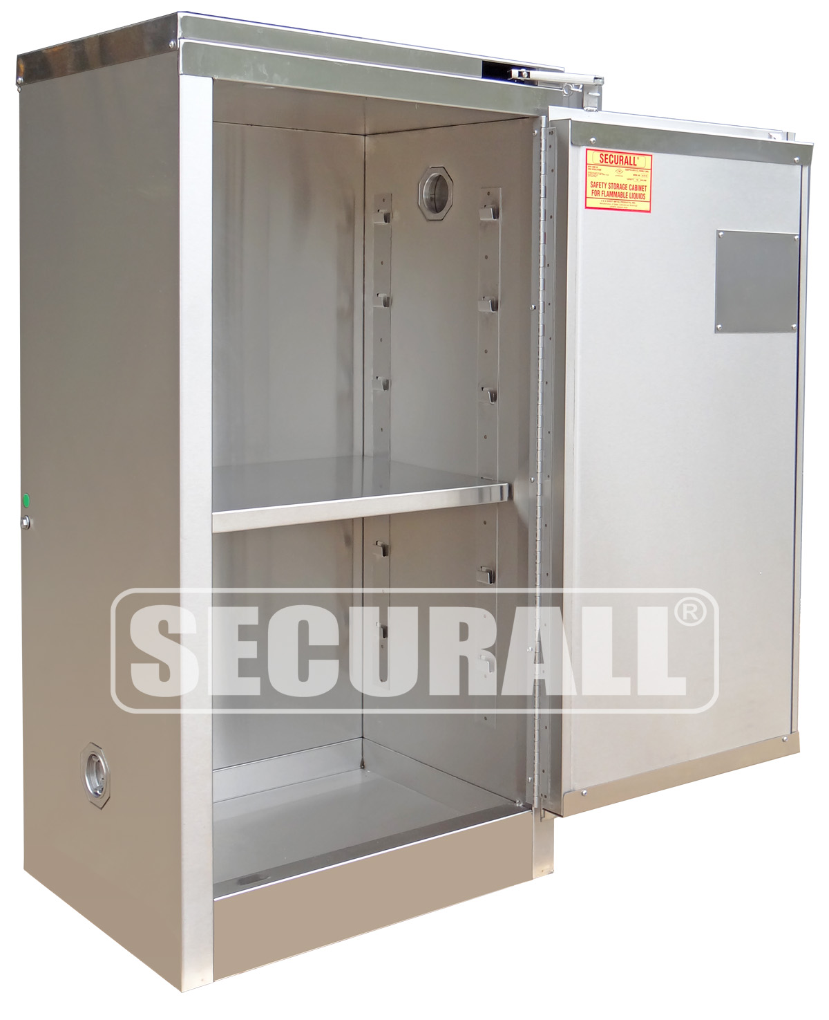 SECURALL®: Stainless Steel Storage Cabinets For Flammables And Hazardous  Materials, Stainless Steel Cabinets