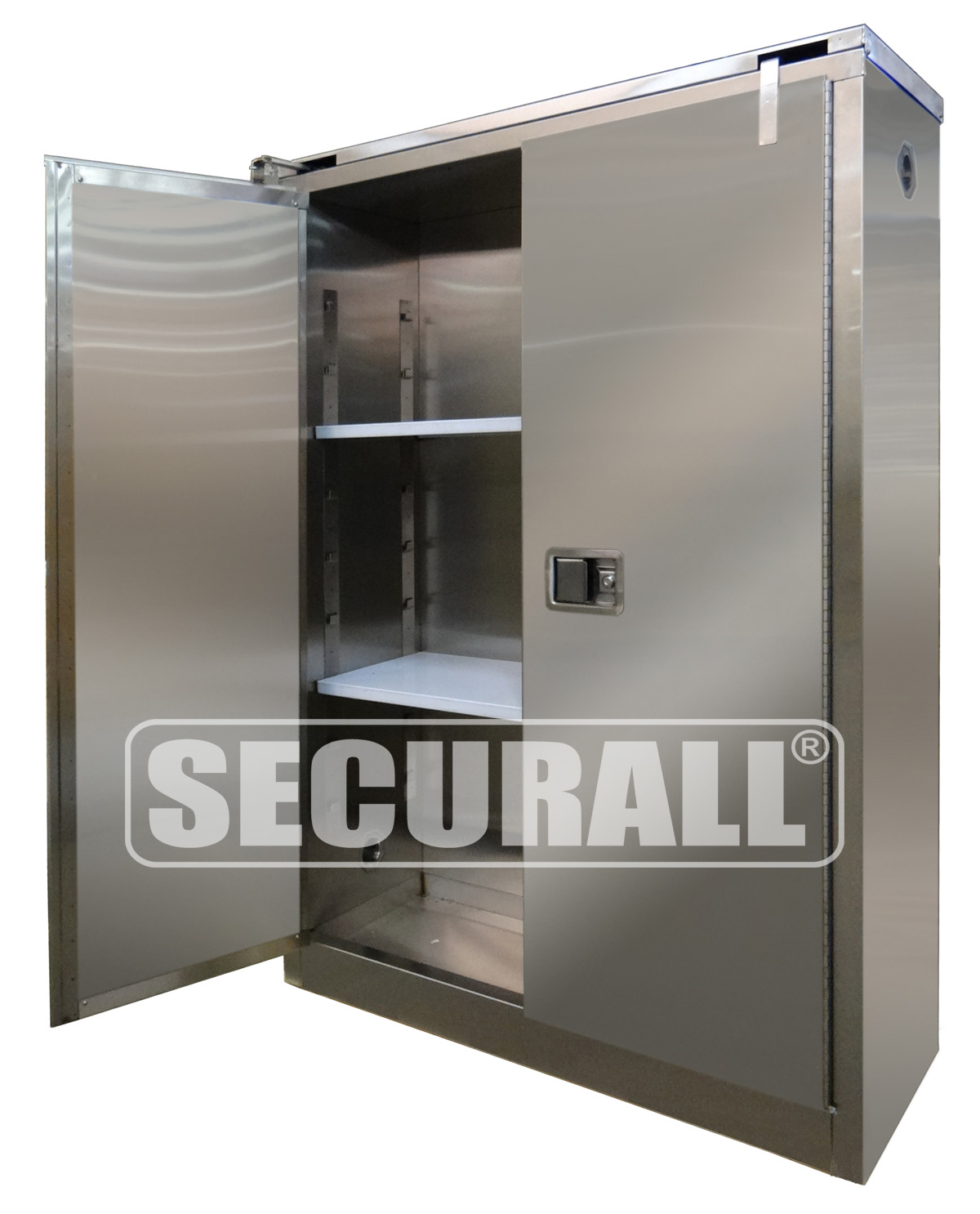securall stainless steel storage cabinets for flammables and hazardous materials stainless. Black Bedroom Furniture Sets. Home Design Ideas