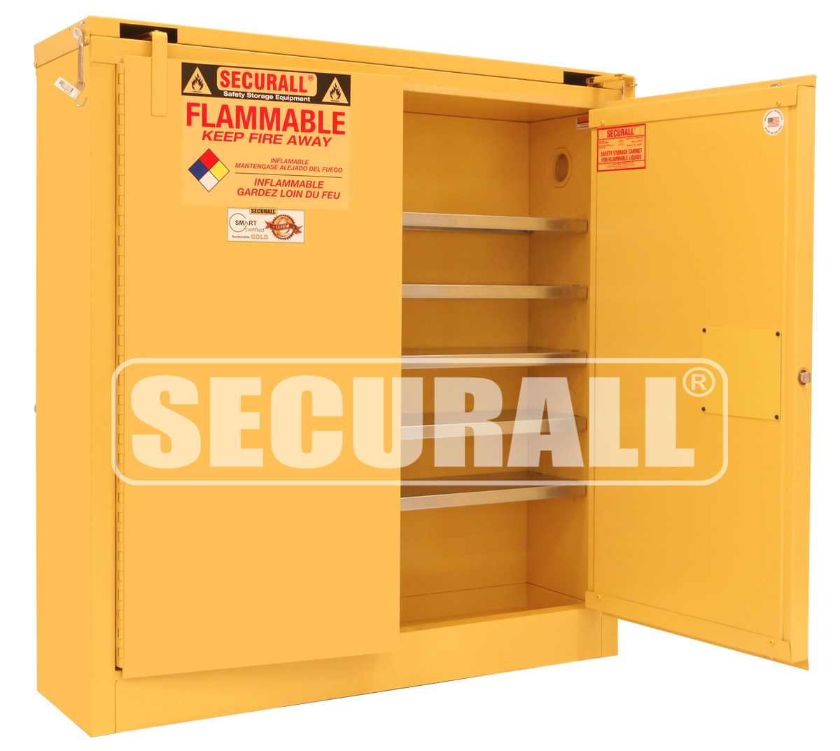 Yellow Flammable Cabinet Securallr Wall Mounted Storage Cabinets Wall Mountable Cabinets