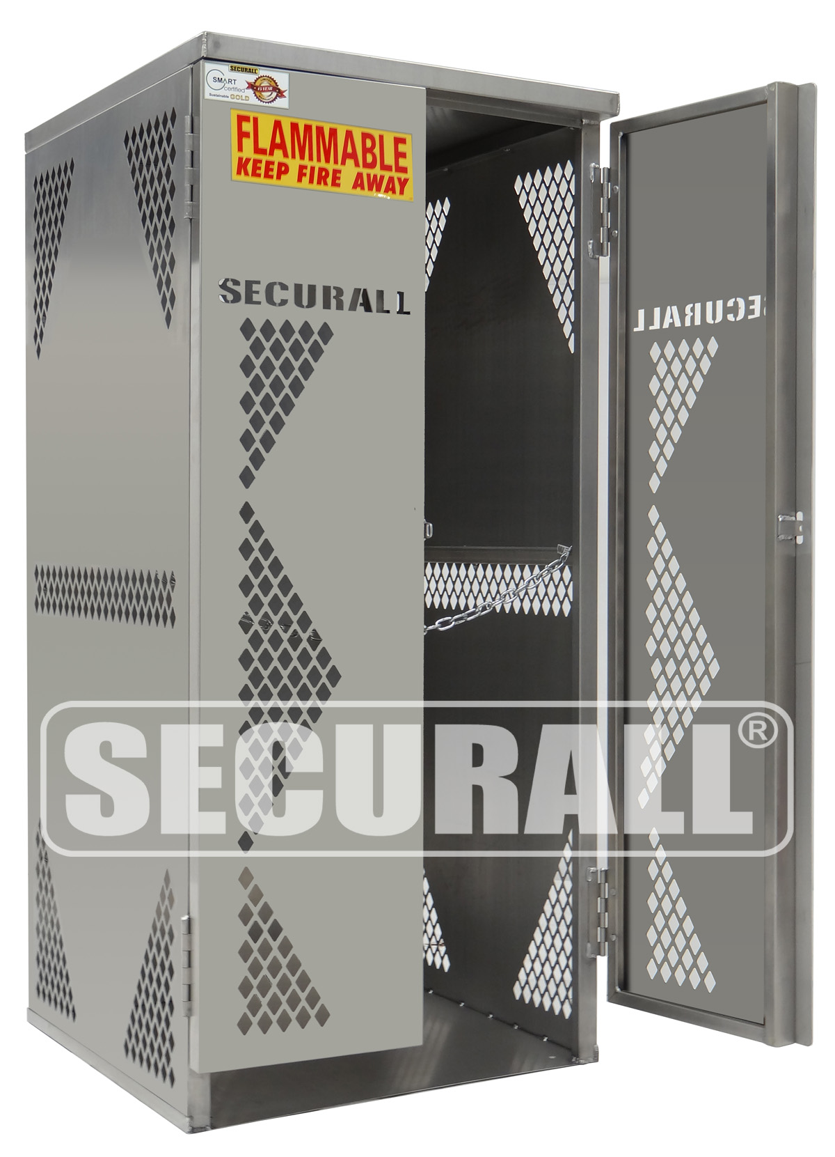 Securall 174 Cylinder Amp Tank Storage Cabinets Propane Gas