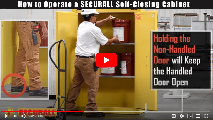How to Operate a SECURALL 300-Series Self-Closing Cabinet